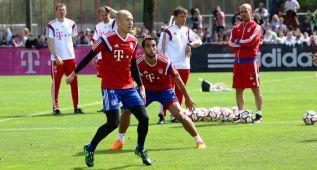 Guardiola recupera a Robben y Benatia pensando en el Barça