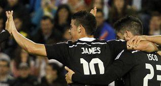 El Madrid gana el 80% de los partidos con James; sin él, el 60%