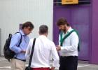Representantes de la AFE visitan el vestuario pucelano
