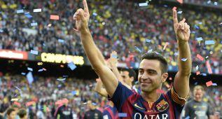 """Y Xavi rompió a llorar: """"Somos el mejor club del mundo"""""""