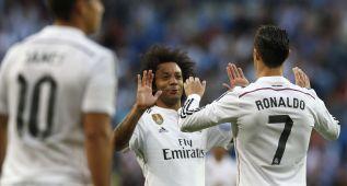 Uno por uno: Marcelo, James y Cristiano tiran de un Madrid B
