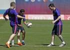 Mathieu y Luis Suárez trabajan al margen de cara a la Copa