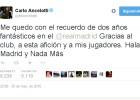 """Ancelotti: """"Dos años fantásticos; ¡Hala Madrid y nada más!"""""""