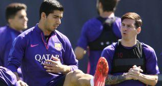 Luis Suárez se entrena sin el alta, más cerca de jugar la final