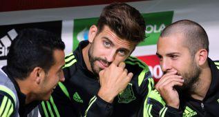 Del Bosque blindó a Piqué entrenando a puerta cerrada