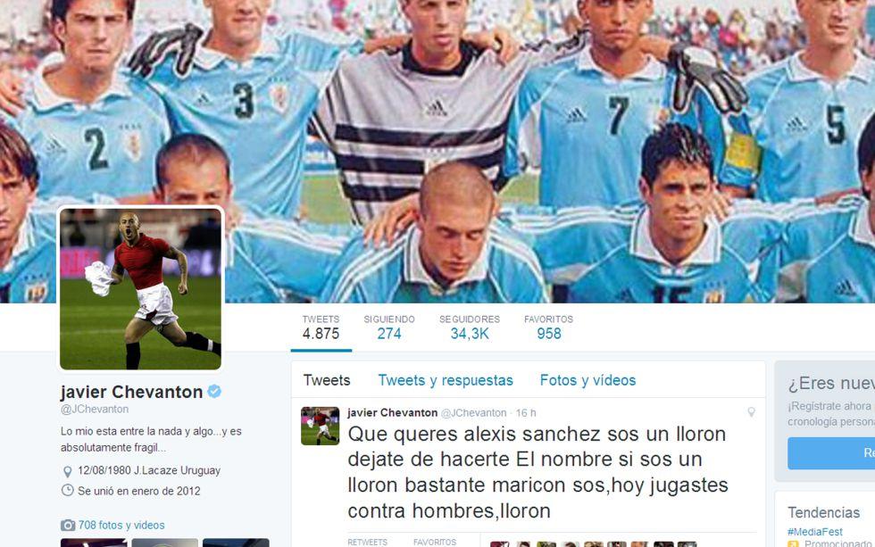 Copa América   Chile - Uruguay: Chevantón: 'Alexis, maricón y llorón, jugaste contra hombres' - AS.com