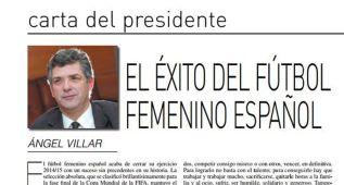 Villar felicita a la selección femenina y a su cuerpo técnico