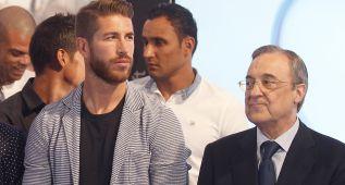 Sergio Ramos y Florentino Pérez no son capaces de aguantarse