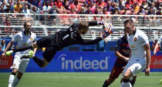 De Gea jugó 62', no encajó y evitó un gol de Sergi Roberto
