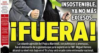 """La prensa presionó para que echasen a Herrera: """"¡Fuera!"""""""