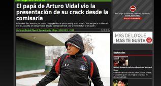 El padre de Vidal, detenido en Chile por posesión de cocaína