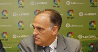 Tebas: ''Debato con el Madrid como si es con el Llagostera''