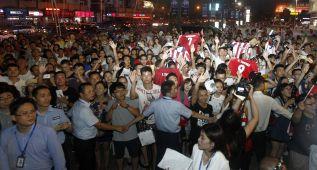 """Tebas, con el Atlético en China: """"Asia es un gran mercado"""""""