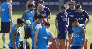 Última sesión antes del Gamper: Messi y Neymar jugarán