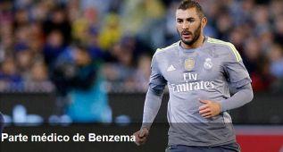 Parte médico: Benzema, lesión muscular en el muslo derecho
