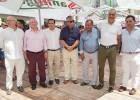 La cúpula del Málaga realizó su visita anual a la Feria