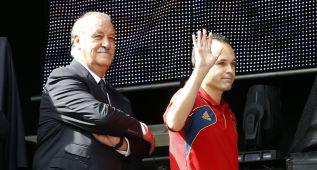 Iniesta y Del Bosque, premios Quijote y Sancho Panza