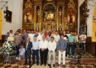 El Málaga realiza su tradicional ofrenda floral a la Divina Pastora