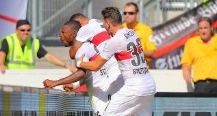 El Eintracht golea al Stuttgart y el Colonia gana al Hamburgo