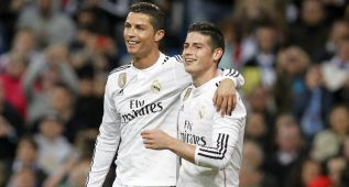 Doble terapia frente al Betis: James y Cristiano de nueve