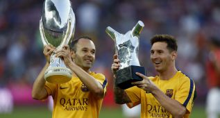 El Barça ofreció el premio de Messi y la Supercopa de Europa