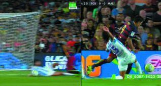 El Barça reclamó dos penaltis