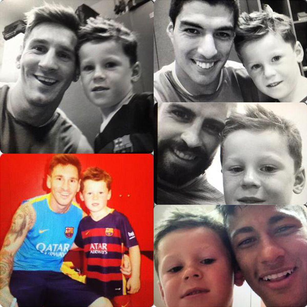 El hijo de Rooney conoció a sus ídolos del Barcelona - AS.com