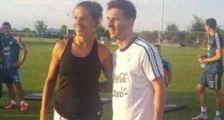 Messi posó junto a Carli Lloyd, última 'Balón de Oro'