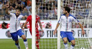 Un gol con la mano de Pellè rompe el catenaccio de Malta