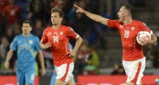 Remontada agónica de Suiza; Estonia y Montenegro vencen