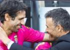 Valerón debuta esta temporada con una ovación del Camp Nou