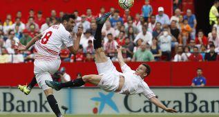 Sevilla-Barcelona en imágenes