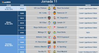 Horarios de la jornada 11: el Barça-Villarreal, el 8 a las 16:00