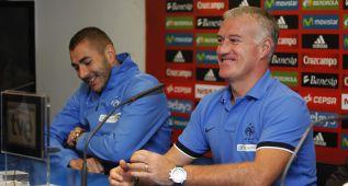 """Deschamps se pone de parte de Benzema: """"Yo no le cambiaré"""""""