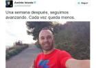 Iniesta muestra en Twitter cómo avanza su recuperación