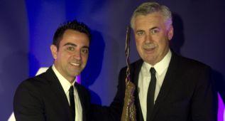 Xavi premia el liderazgo de Ancelotti en los Leaders Awards