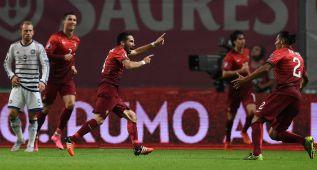 Moutinho da el triunfo y el pase a una Portugal de nuevo gris