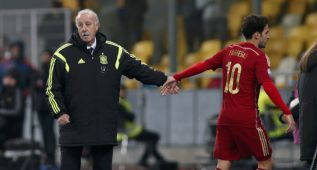 """Del Bosque: """"La actuación de De Gea ha sido muy buena"""""""