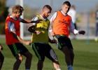 Ramos trabajó con el grupo y Bale no estuvo en Valdebebas