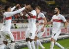 Stuttgart y Hannover ganan y escapan de la zona baja