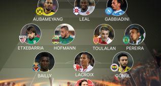 Europa League: Bailly y Beñat, en el once ideal de la jornada