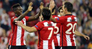 Manita del Athletic con Iñaki Williams en plan estrella