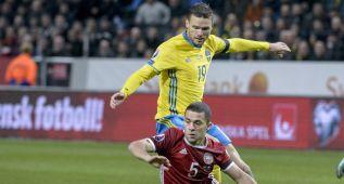 Un tanto de Jorgensen al final complica la vida a Suecia