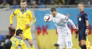 Eslovenia peleó pero Ucrania estará en la Eurocopa de 2016
