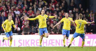 Ibrahimovic lleva a la Eurocopa a Suecia, que sufrió al final