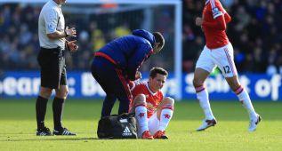 Ander Herrera se fue lesionado con un problema muscular