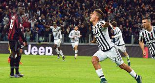Con gol de Dybala, la Juventus venció en Turín al Milán