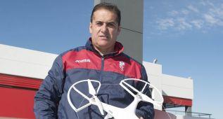 Sandoval innova con el uso de un dron en los entrenamientos
