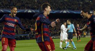 Messi, Neymar y Luis Suárez: tres delanteros que no son multitud