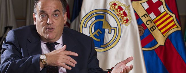 """Tebas, sobre el Clásico: """"Como aficionado del Madrid, fue duro"""""""